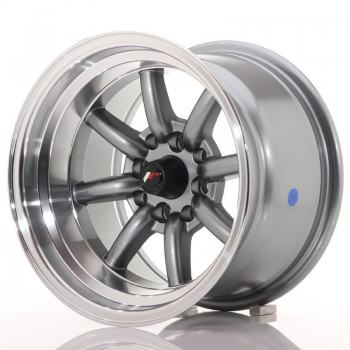 JR Wheels JR19 14x9 ET-25 4x100/114 Gun Metal w/Machined Lip JR19 14
