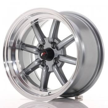 JR Wheels JR19 15x8 ET0 4x100 Gun Metal w/Machined Lip JR19 15